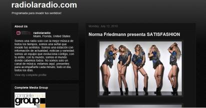 (MIAMI/FLORIDA) http://www.radiolaradio.blogspot.com/
