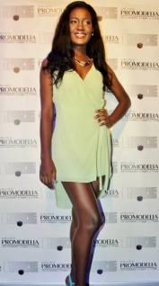 La 'Miss Guinea Ecuatorial' Agnes Genoveva Cheva Ade