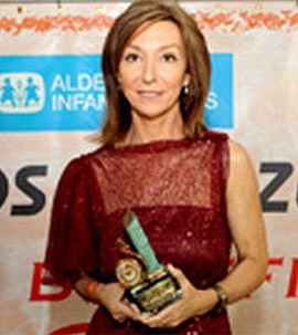 La presentadora Yolanda Flores